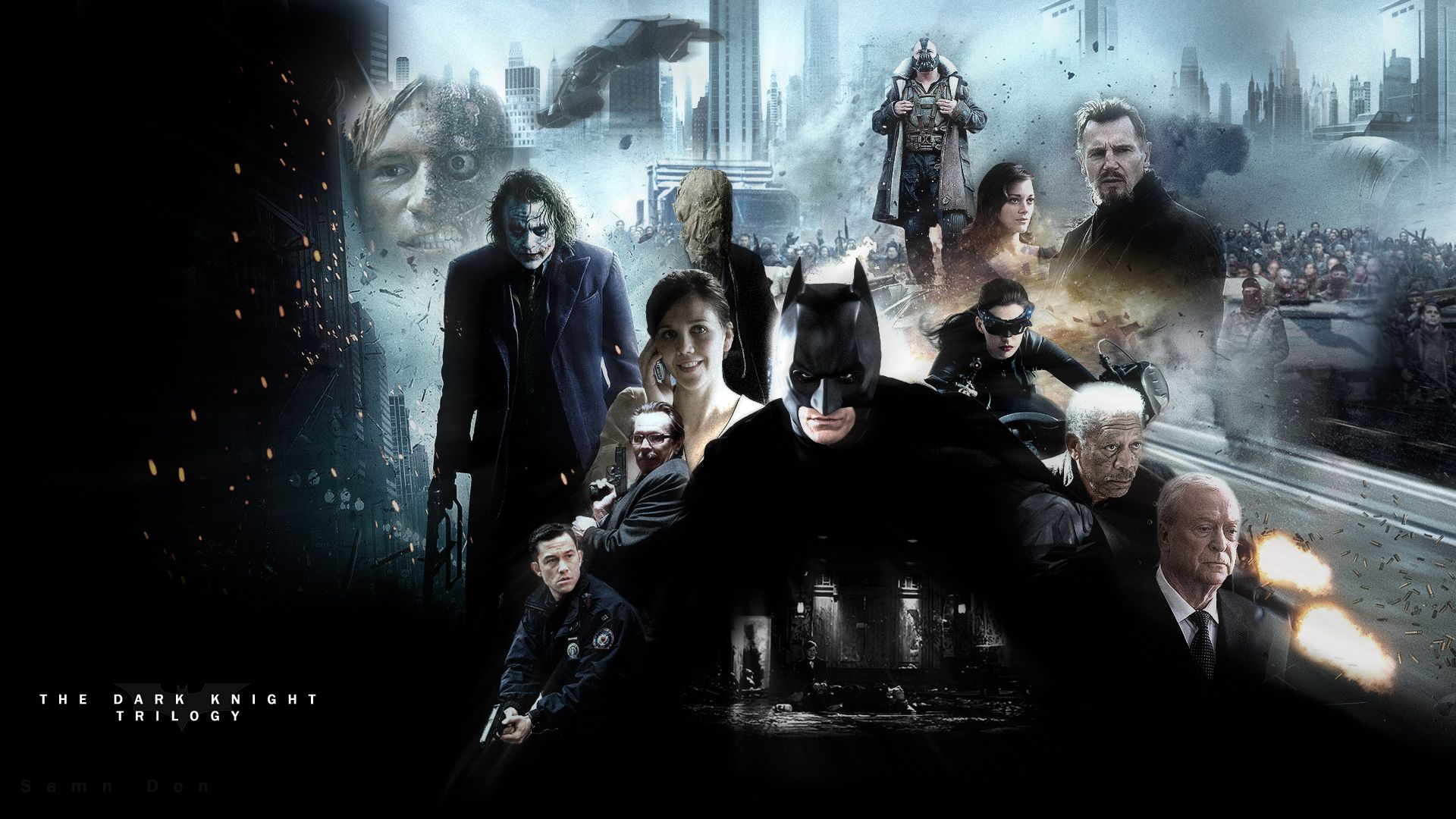 The Dark Knight Trilogy Wallpaper By Samndon Deviantart Com On