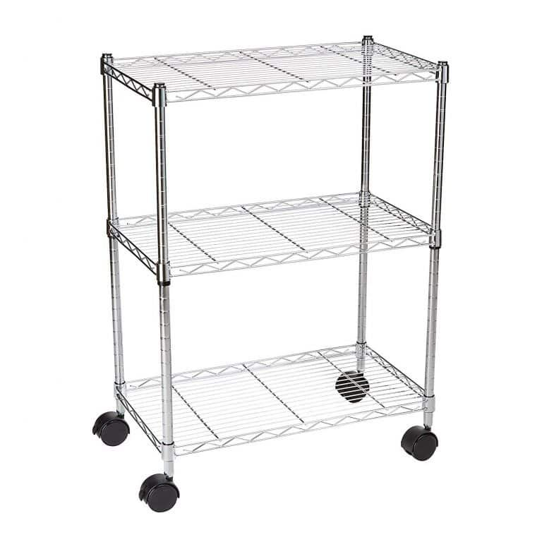 c8ef2eae6ca8 AmazonBasics 3-Shelf Rolling Cart | Top 10 Best Tier Rolling Carts ...