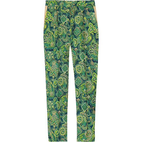 By Malene Birger Printed silk-twill pants (10.415 RUB) ❤ liked on ...