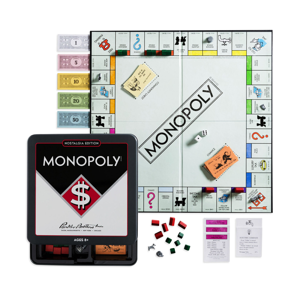 Monopoly Game Tin Nostalgia Edition Monopoly Game Classic Board Games Monopoly