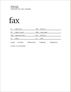 Fax Cover Sheet Professional Design Download At HttpWww
