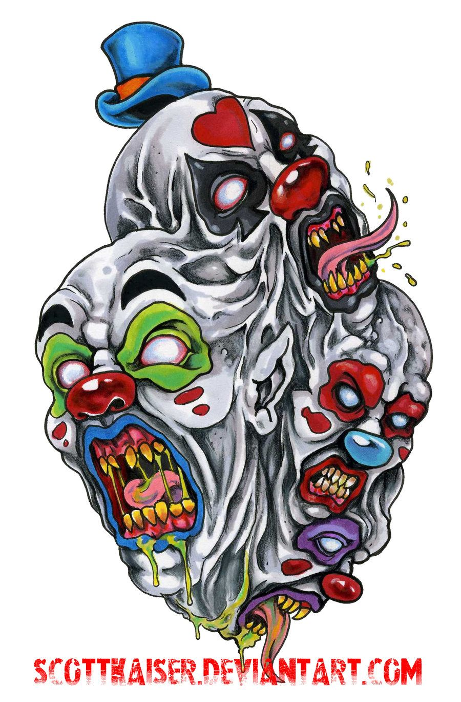 Clown Spawn By Scottkaiser D57mroe Jpg Jpeg Image 900 1368 Pixels Clown Tattoo Evil Clown Tattoos Evil Clowns