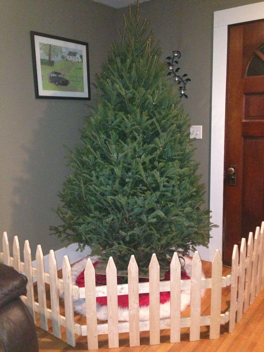 Handmade Fence Dog Proofing Christmas Tree Saving Christmas Tree Fence Toddler Christmas Tree Christmas Tree Gate