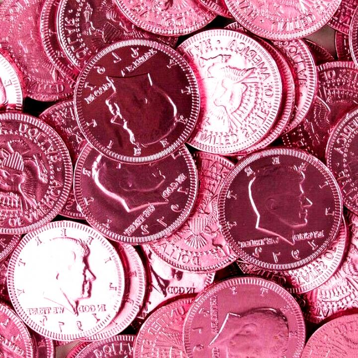 Pink Chocolate Filled Half Dollars Pink Money Chocolate Aesthetic Wallpaper 2020 Pink Aesthetic Pastel Pink Aesthetic Pink Wallpaper Iphone