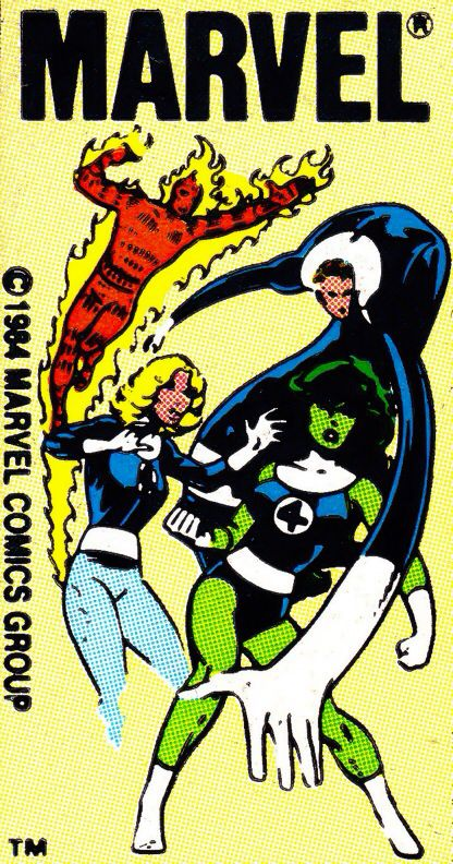 Marvel corner box art - Fantastic Four (She-Hulk joins the team) | Comic  book template, Comics, Comic book display