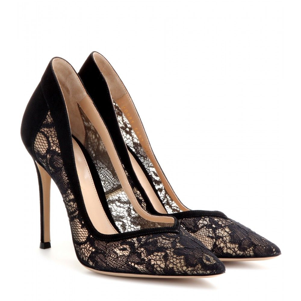 88d195d70 mytheresa.com - Lace and suede pumps - High heel - Pumps - Shoes - Luxury  Fashion for Women   Designer clothing