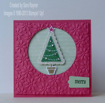 Christmas pennant parade stepped up - Stampin' Up!