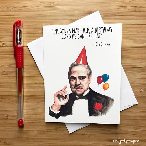 Funny Don Movie Quote Birthday Card Nerds Quotes Cards Pop Culture I