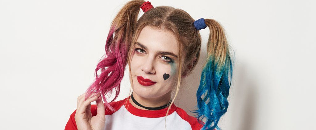 Top Off Your Ghoulishly Glam Harley Quinn Costume With This Easy Hair DIY