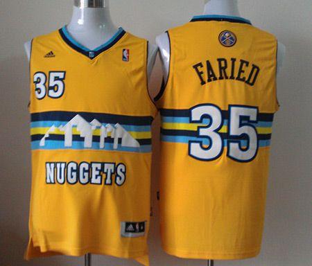 53f44cb4c ... Authentic Jersey Yellow · Denver Nuggets 35 Kenneth Faried Revolution 30  Swingman Yellow NBA Jerseys ...