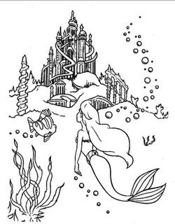 Riscos Para Colorir Da Pequena Sereia Disney Coloring Pages Mermaid Coloring Ariel Coloring Pages