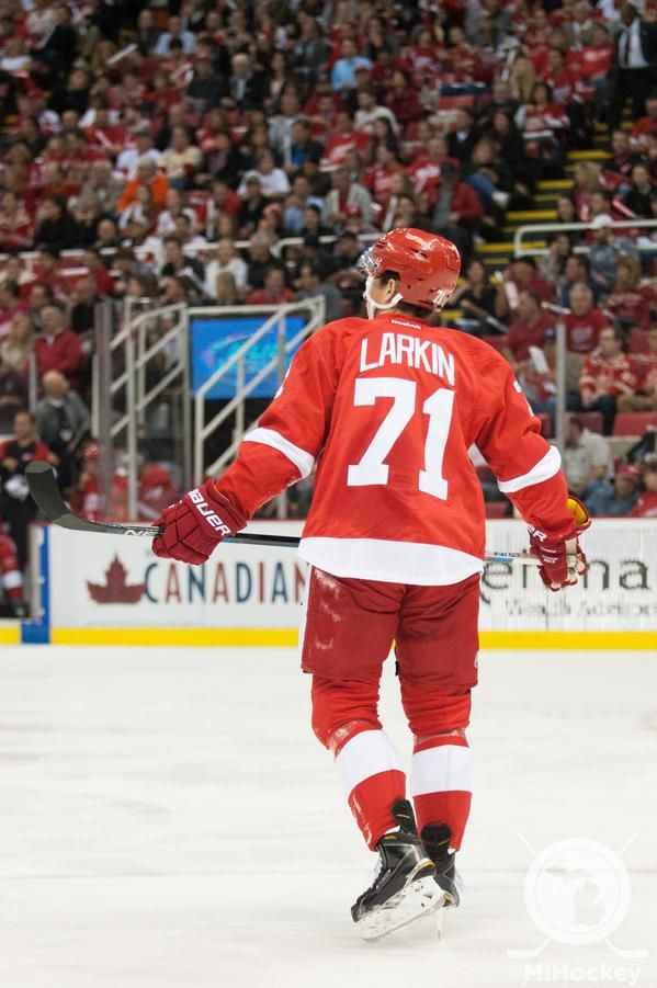 71 Dylan Larkin 2015 10 09 First Game In Nhl Red Wings Hockey Detroit Red Wings Detroit Red Wings Hockey