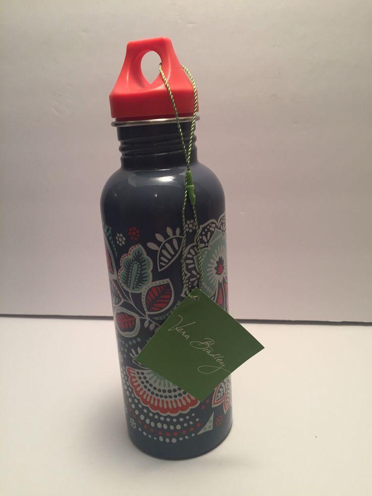 9918f1dd9e7 Vera Bradley Nomadic Floral Print 25oz Water Bottle NWT   eBay ...