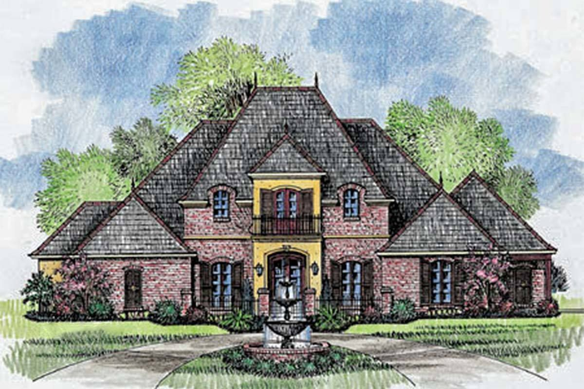 Plan 56328sm Grand French Country Home Plan With Images French Country House Plans French Country House