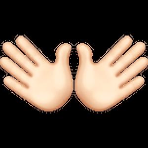 Open Hands Sign 1 Emoji Open Hands
