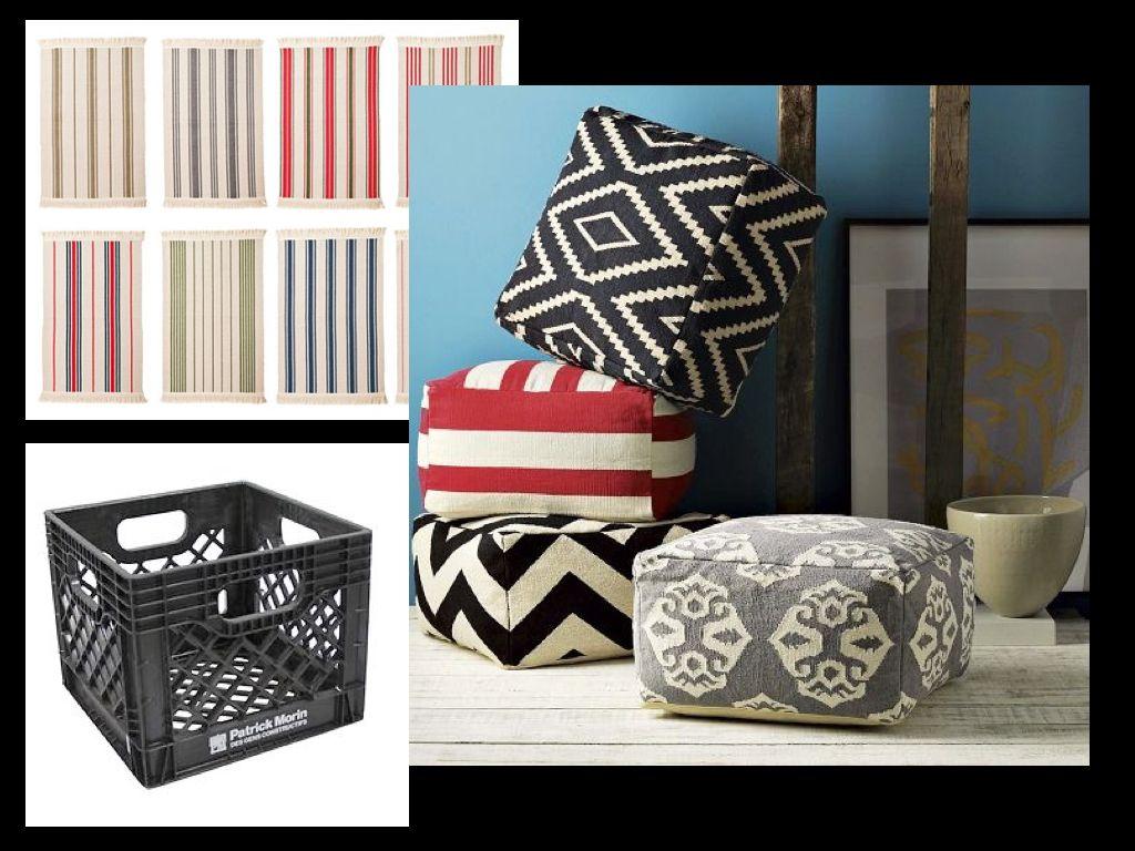 cr er un pouf cube style ottaman avec des tapis ikea peu chers moins de 2 le tapis et un. Black Bedroom Furniture Sets. Home Design Ideas