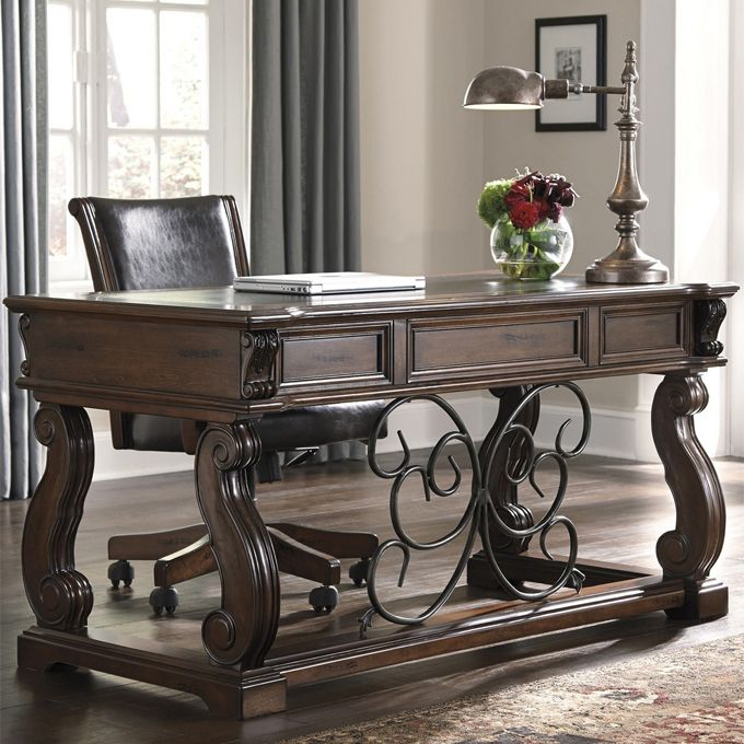 Ashley Alymere Home Office Desk And Chair