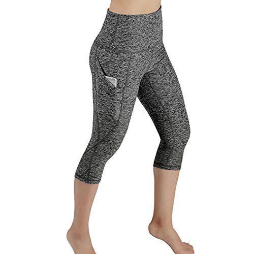 OverDose Femme Legging Courts de Sport Skinny FemmeOverDose Sexy Taille  Haute Pantalon Jogging Slim élastique Running Yoga Trousers Sportwear  Leggings ... 33f9c002195