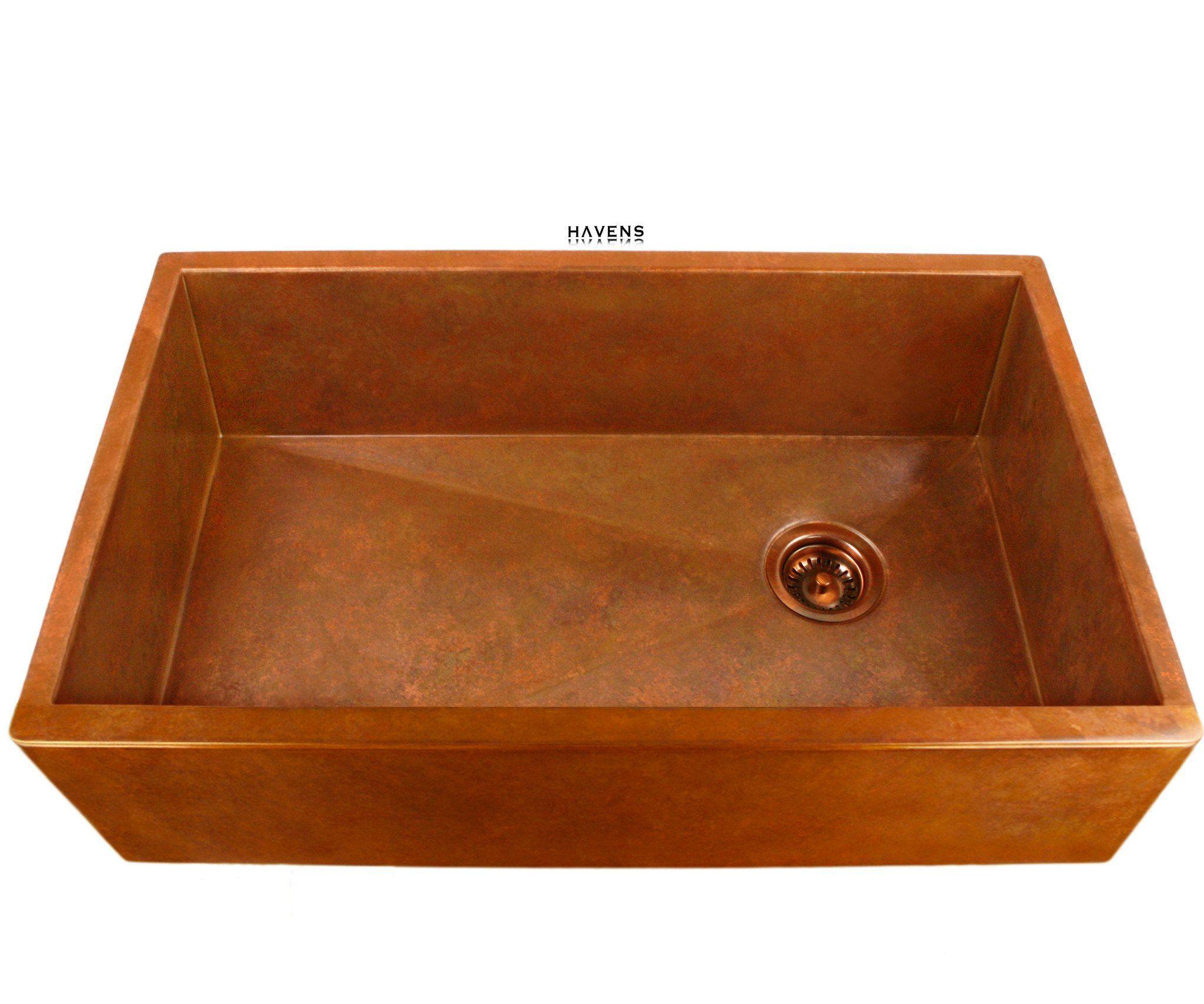 Rio Chico 30 Copper Bar Prep Trough Sink Copper Bar Sink Bar Sink Prep Sink