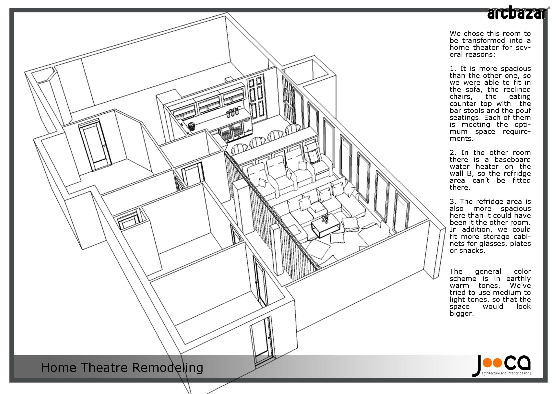 Home Theatre design submission by Jooca Studio via http://arcbazar ...