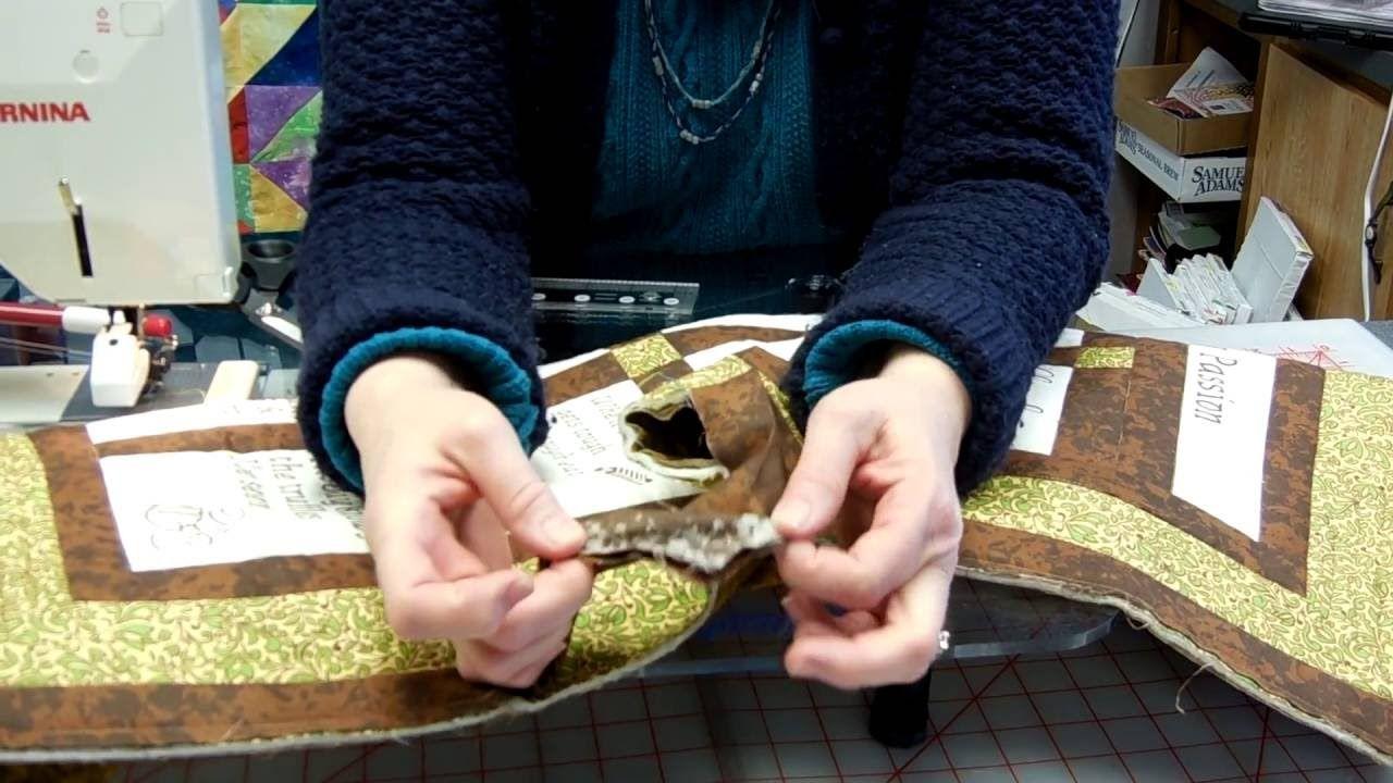 Ending your quilt binding youtube quilt binding