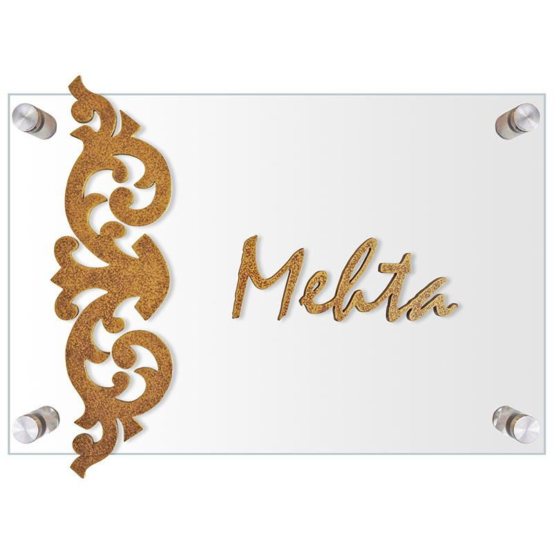Http Images Butterflyhomez In 800x800 Glass And Wood Motif Name Plate Bh Nm 03 000 1 Jpg Name Plates For Home Door Name Plates Name Plate Design