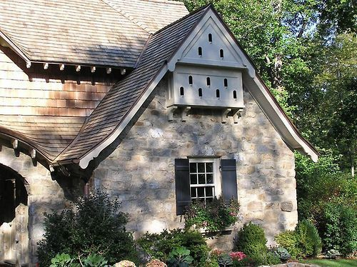 birdhouse built into eaves  Google Search  Dovecote Gables  House Bird houses Cottage