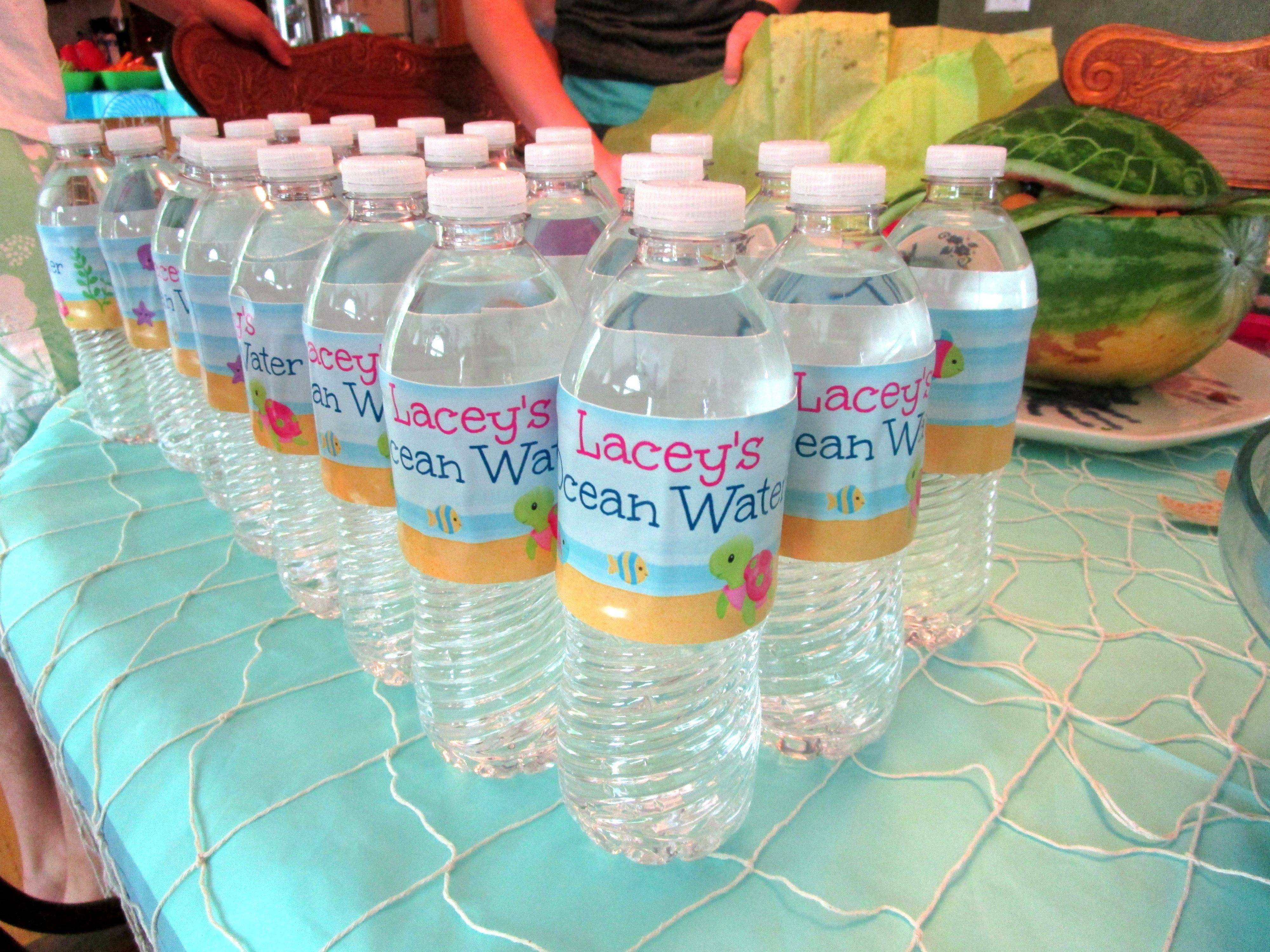 """Lacey s Ocean Water"""" Custom water bottle labels From"""