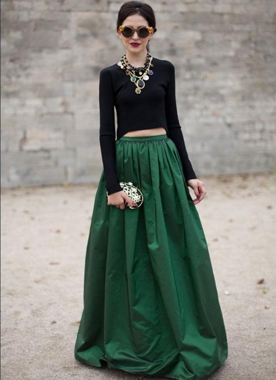 eea73d8de De verde esmeralda | Out fits | Faldas, Faldas verdes y Vestidos