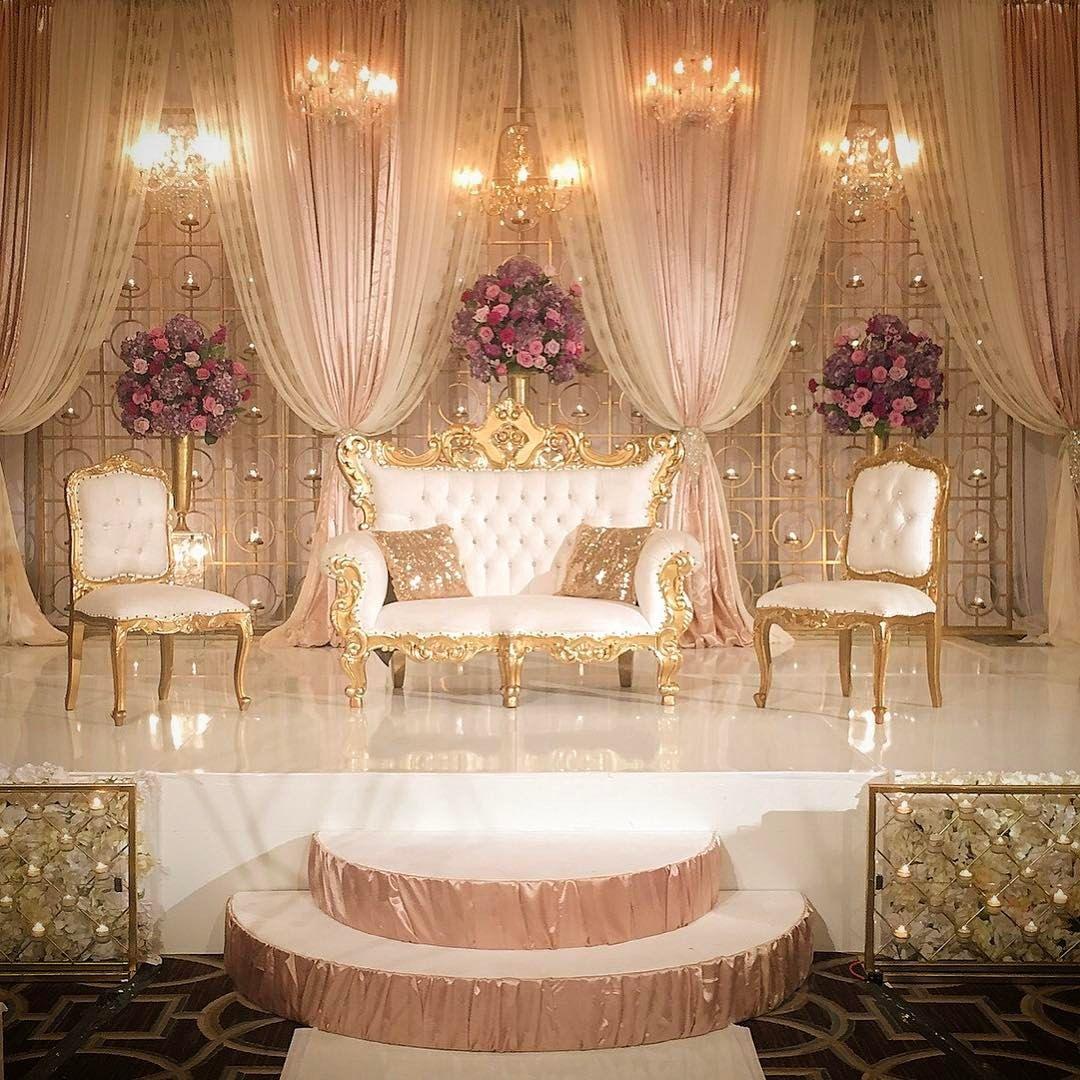 Love The Way This Elegant Style Reception Turned Out Sheilaburkidesigns Weddingsinhou Desi Wedding Decor Wedding Stage Decorations Wedding Design Decoration Luxury bridal room decoration