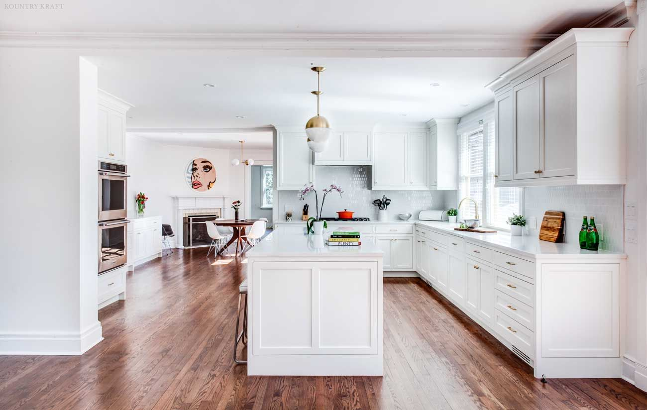 White Kitchen With Island Counters Ovens And Cabinets Short Hills Nj Https Www Kountryk Custom Kitchen Cabinets Cabinetry Design Interior Design Kitchen