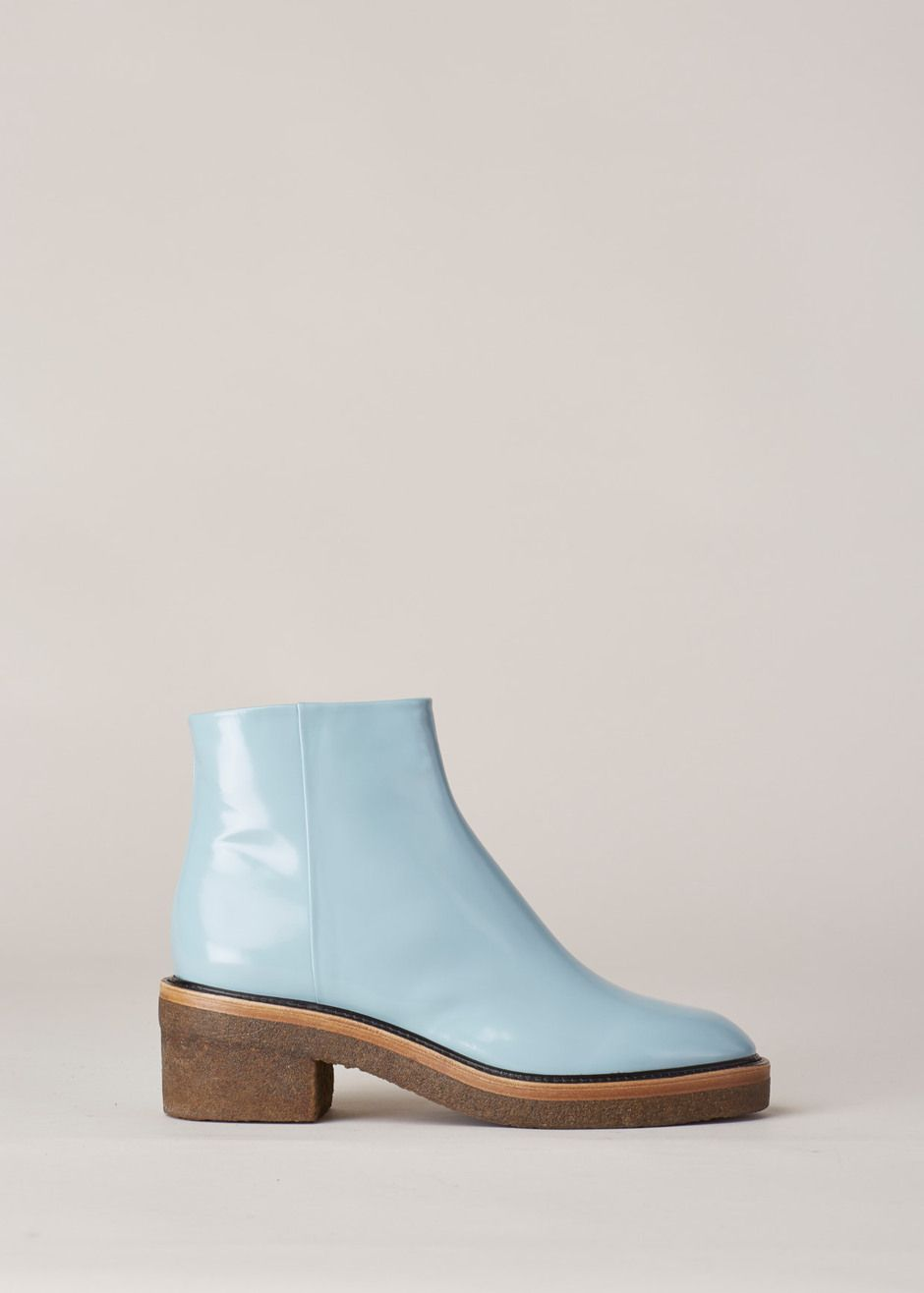 Dries Van Noten Chunky Heel Zip Boot (Light Blue) | fashion ...