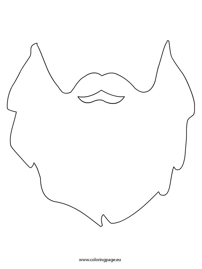 Beard printable szablony pinterest lumberjack party for Moustache coloring pages