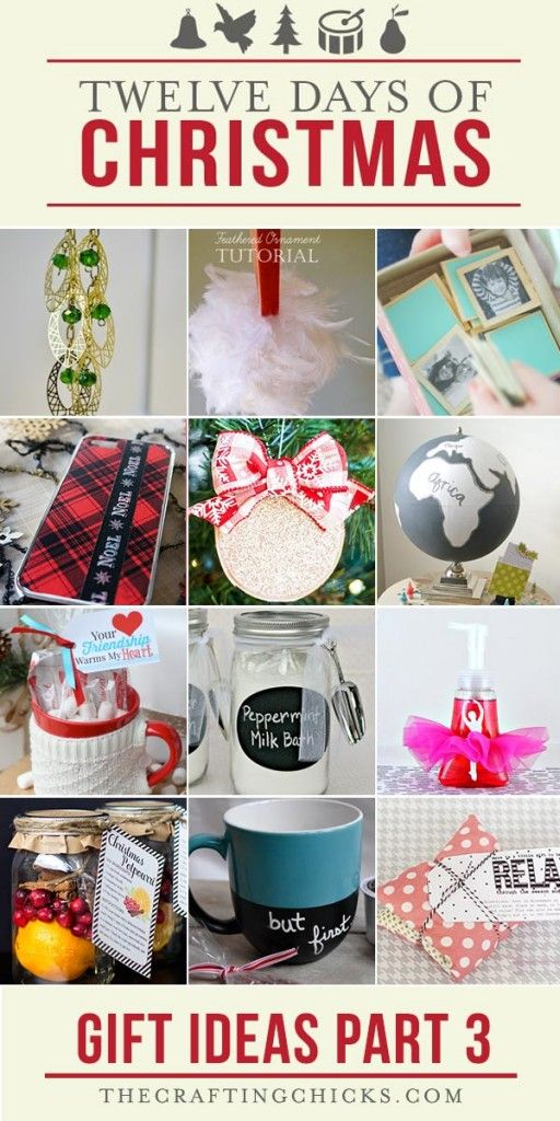 12 Days of Christmas Gift Ideas Part 3 | 12 days of christmas, Christmas gifts for the home ...