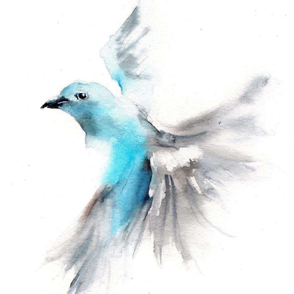 Canot Stop Art A Theme Oiseau Oiseau En Aquarelle Idees D
