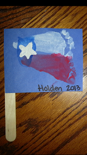 A DIY on how to make a Texas State Footprint Flag.  Super cute and easy!  The Haus of Hughes