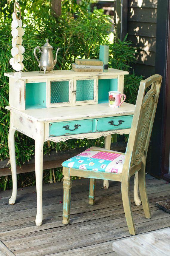 shabby chic desk on etsy Dream Home Inspiration Pinterest