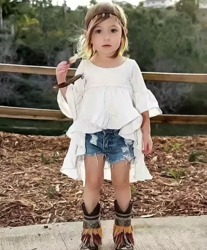 f03bd892e52ef High Low Boho Blouse for Girls | Trendy kids clothes for your little  bohemian babe! Shop the look at www.lolaandtheboys.com