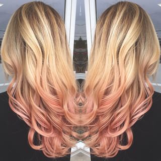 Blonde Balayage With Rose Gold