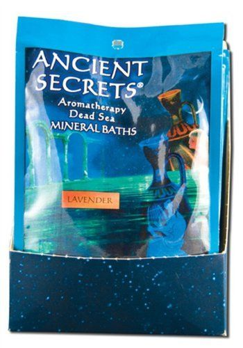 Ancient Secrets Bath Salts Lavender 4 Oz by Ancient Secrets. $3.22. 4 Ounces Bag. Serving Size:. Now you can experience the relaxing and soothing benefits of aromatherapy while obtaining the legendary therapeutic effects of the world famous Minereal Baths from the Dead Sea. Doctors have long recommended bathing in it to ease muscle soreness. joint stiffness and aid in treating skin conditions. fine grain dissolves easily safe for use in hot tubs and whirlpool baths b...