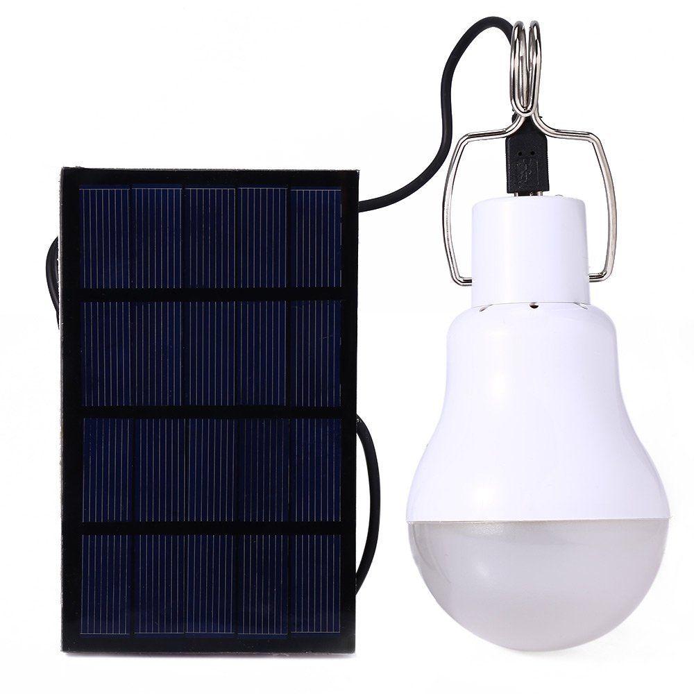 Sonnenenergie Lampe Tragbar LED licht 130LM 5V wiederaufladbare ...