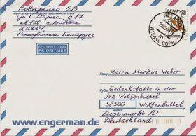 Formeller Brief Schreiben Deutsch Deutsch Lernen Und Schreiben