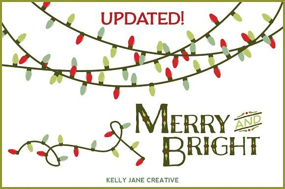 Christmas Lights Vector Christmas Lights Merry And Bright Graphic Design Resources