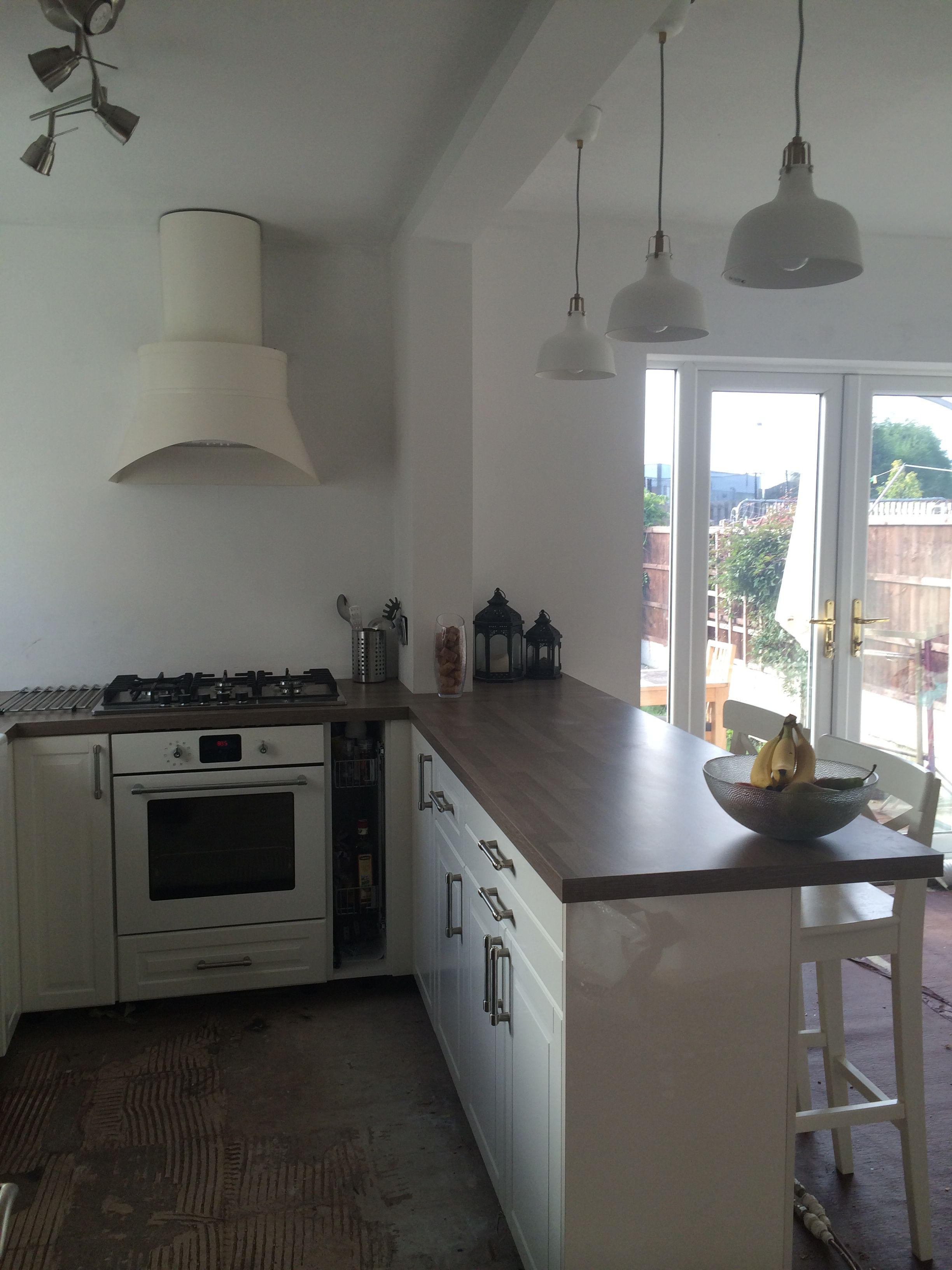 Kitchen almost finished! Cream, ikea, grey laminate