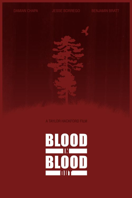 Blood In, Blood Out (1993) ~ Minimal Movie Poster by Foursquare #amusementphile