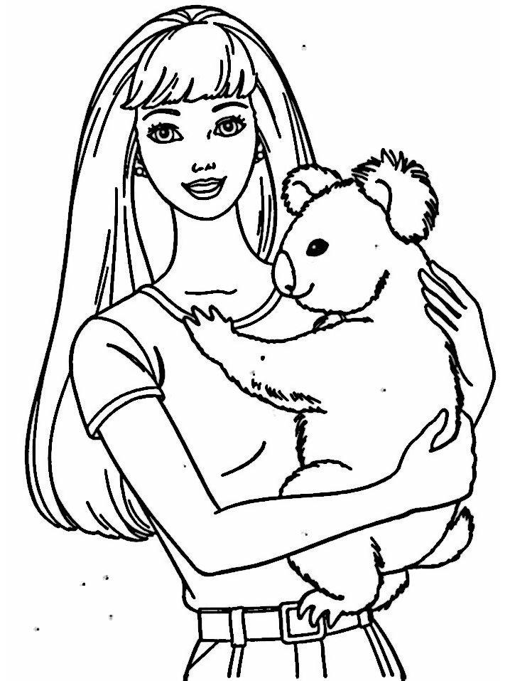 Dibujos para Colorear Barbie 22   Dibujos para colorear para niños ...