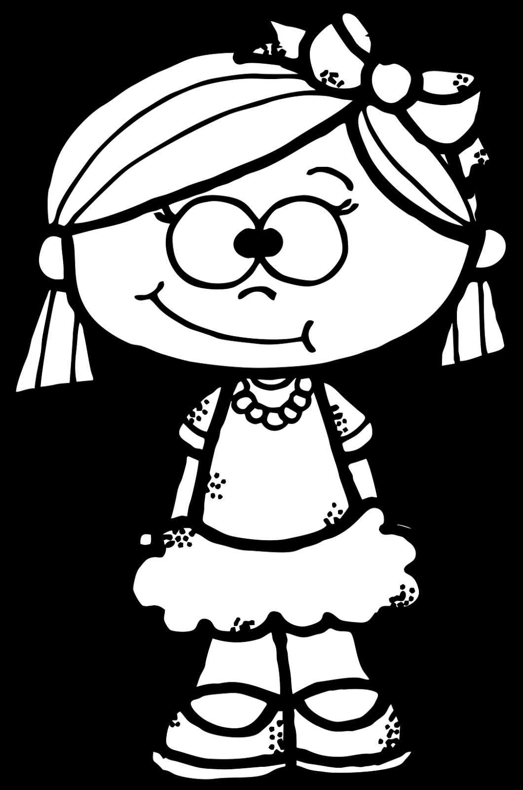 WorksheetJunkie Cute girl Clipart Freebie Figuras para