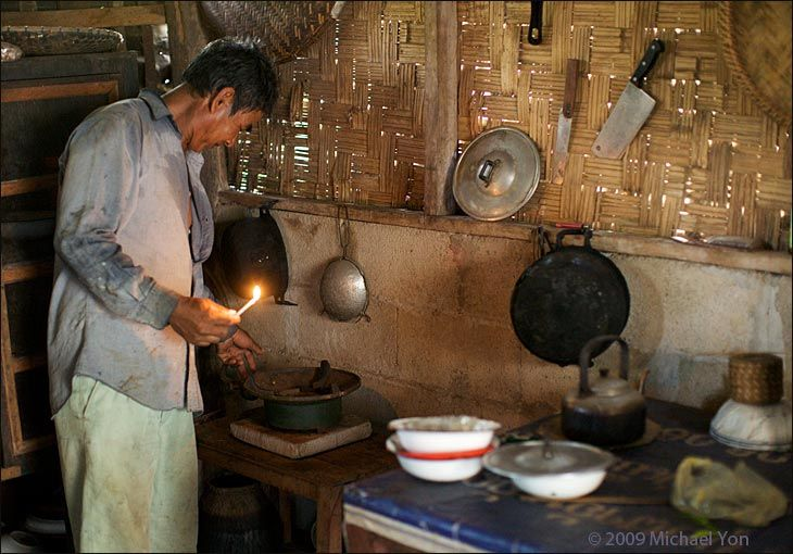 Kitchens in Laos are better ventilated than many in Nepal or Afghanistan.