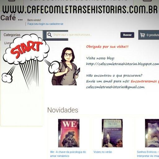 Sebo virtual!!!! Café com letras e histórias. Visite nossa loja virtual: www.cafecomletrasehistorias.com.br