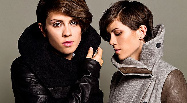 "Tegan and Sara: Tackling grand goals in harmony | Whopperjaw    We hoped to tour new places, expand and build our fan base internationally and challenge ourselves as physical performers,"" says Sara Quin about Tegan and Sara's goals for the band's most recent release, Heartthrob. ""It's been deeply rewarding to share this album and have it be embraced by both the devoted T+S fans and the new converts."""